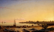 Stage Fort Across Gloucester Harbor painting reproduction, Fitz Hugh Lane