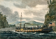 Steamboat Travel on the Hudson River painting reproduction, Pavel Petrovich Svinin