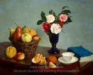 Still Life painting reproduction, Henri Fantin-Latour