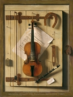 Still Life, Violin and Music painting reproduction, William Michael Harnett