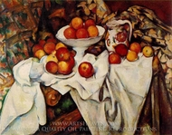 Still Life with Apples and Oranges painting reproduction, Paul Cézanne