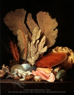 Still Life with Coral and Shells painting reproduction, Anne Vallayer-Coster