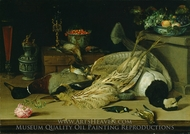 Still Life with Dead Birds painting reproduction, Christoffel Van Den Berghe