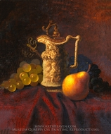 Still Life with Ewer and Fruit painting reproduction, Carducius Plantagenet Ream
