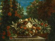 Still Life with Flowers and Fruit painting reproduction, Eugene Delacroix