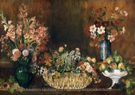 Still Life with Flowers and Fruit painting reproduction, Pierre-Auguste Renoir