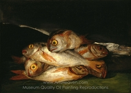 Still Life with Golden Bream painting reproduction, Francisco De Goya