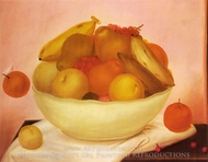Still Life with Orange Falling painting reproduction, Fernando Botero