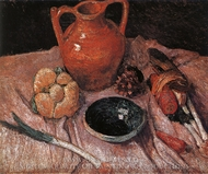 Still Life with Yellow Jug painting reproduction, Paula Modersohn-Becker