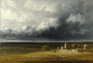 Stormy Landscape with Ruins on a Plain painting reproduction, Georges Michel