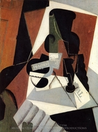 Strawberry Jam painting reproduction, Juan Gris