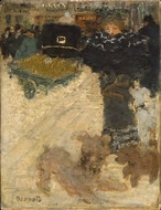 Street Scene, Place Clichy painting reproduction, Pierre Bonnard