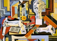 Studio with Plaster Head painting reproduction, Pablo Picasso (inspired by)