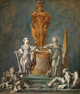 Study for a Monument to a Princely Figure painting reproduction, Francois Boucher