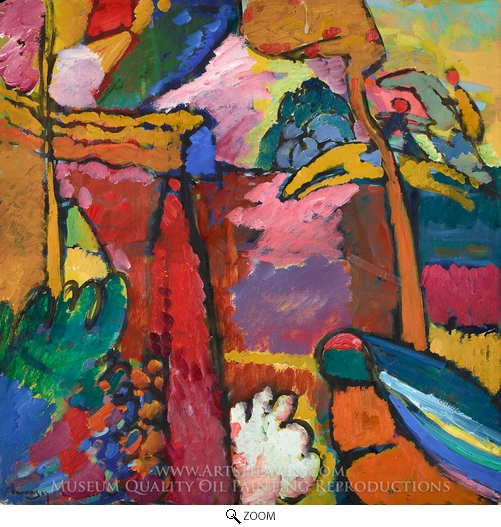 Wassily Kandinsky, Study for Improvisation V oil painting reproduction