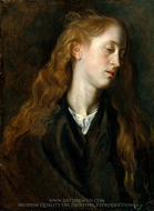 Study Head of a Young Woman painting reproduction, Sir Anthony Van Dyck
