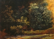 Study of Trees and Bushes painting reproduction, Pierre Henri De Valenciennes