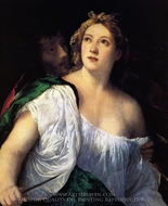 Suicide of Lucretia painting reproduction, Titian
