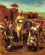 Sultan of Morocco painting reproduction, Eugene Delacroix