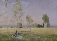 Summer painting reproduction, Claude Monet
