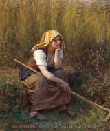 Summer painting reproduction, Jules Breton