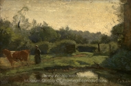 Summer Morning painting reproduction, Jean-Baptiste Camille Corot