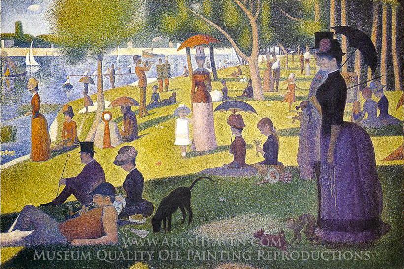 Close Up Sunday On The Island Pf The Grande Jatte