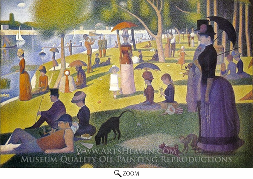 Georges Seurat, Sunday Afternoon on the Island of La Grande Jatte oil painting reproduction