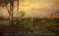 Sundown painting reproduction, George Inness