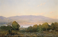 Sundown at Centre Harbor, New Hampshire painting reproduction, William Trost Richards