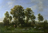 Sunny Days in the Forest painting reproduction, Narcisse Diaz De La Pena
