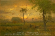 Sunrise painting reproduction, George Inness