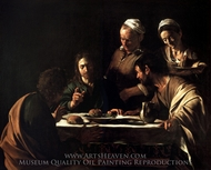 Supper at Emmaus painting reproduction, Caravaggio