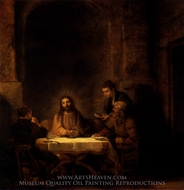Supper at Emmaus painting reproduction, Rembrandt Van Rijn