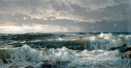 Surf on Rocks painting reproduction, William Trost Richards