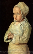 Suzanne de Bourbon (Child at Prayer) painting reproduction, Jean Hey