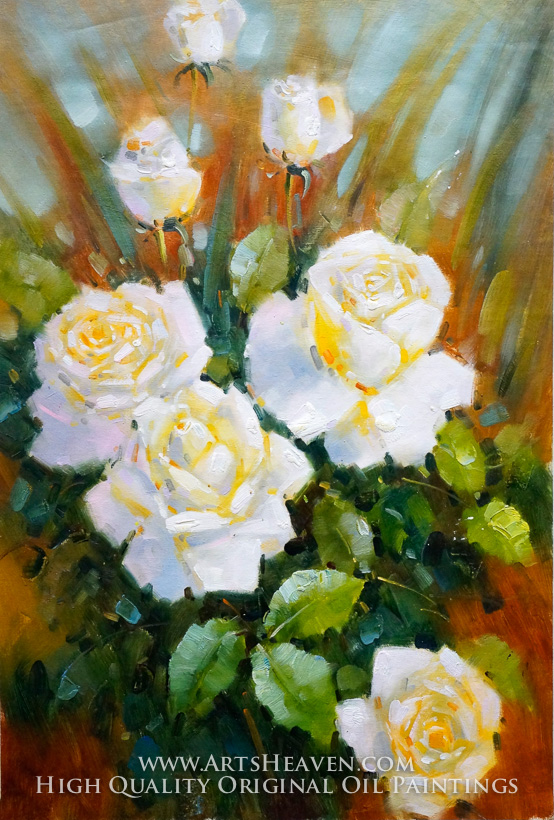 Sweet white flowers various artist sweet white flowers oil painting reproduction mightylinksfo
