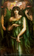 Syrian Astarte painting reproduction, Dante Gabriel Rossetti