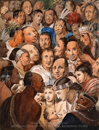 Tableau of Indian Faces painting reproduction, Pavel Petrovich Svinin