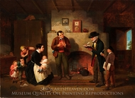 Taking the Census painting reproduction, Francis William Edmonds