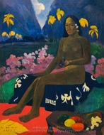 Te Aa No Areois (The Seed of Areoi) painting reproduction, Paul Gauguin