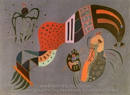 Tempered Elan painting reproduction, Wassily Kandinsky