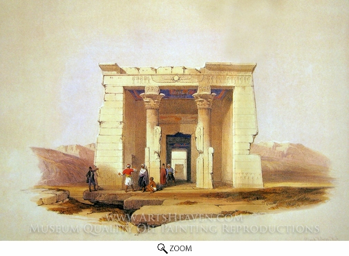 David Roberts, Temple of Dendour oil painting reproduction
