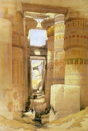 Temple of Karnak painting reproduction, David Roberts