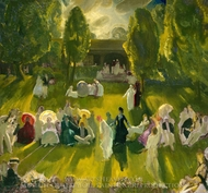 Tennis at Newport painting reproduction, George Bellows