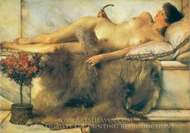 Tepidarium painting reproduction, Sir Lawrence Alma-Tadema