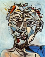 Tete d'Homme painting reproduction, Pablo Picasso (inspired by)