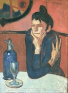 The Absinthe Drinker painting reproduction, Pablo Picasso (inspired by)