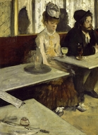 The Absinthe Drinker painting reproduction, Edgar Degas