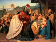 The Adoration of the Magi painting reproduction, Johann Friedrich Overbeck